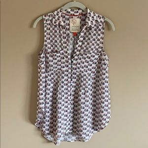 Anthropologie Sleeveless Bicycle Blouse Size XS
